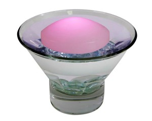 Floating LED wax Dome PINK light