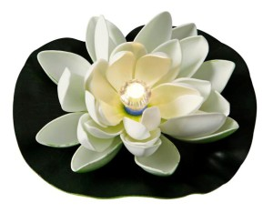 Floating LED Lily WHITE light