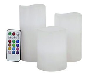 Remote Control LED Candles Set 3 COLOUR CHANGING light PRODUCT CODE : rm 001
