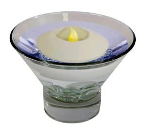 Floating LED Wax Candle  CANDLE-GLOW light PRODUCT CODE : ftlo 001 g