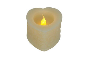 Wx LED Candle | HEART DESIGN \CANDLEGLOW light PRODUCT CODE :wled hrt 001