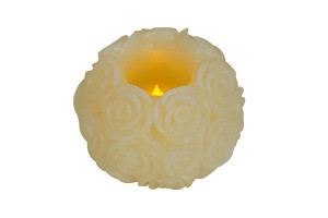 Wax LED Candle | ROSE BALL CANDLEGLOW light PRODUCT CODE :wled rb 001